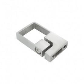 Collier de serrage pour tube carré avec 2 vis M8