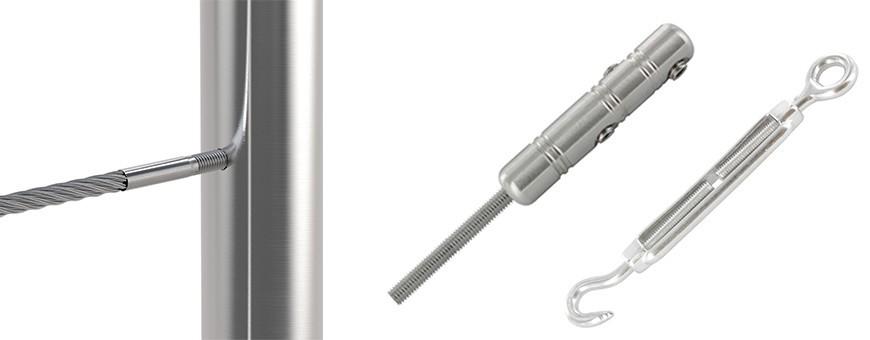 Câbles et tendeurs en inox 304 et 316 pour Garde-Corps