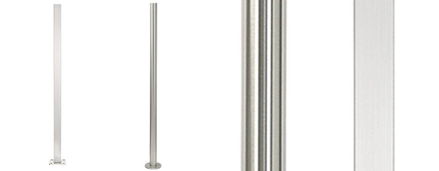 Poteaux simples inox